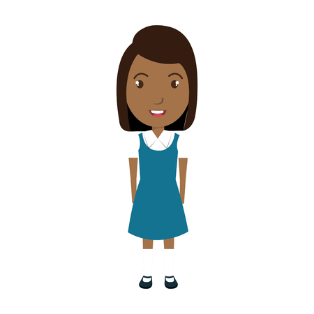 juniors: School student colorful cartoon, vector illustration graphic design.