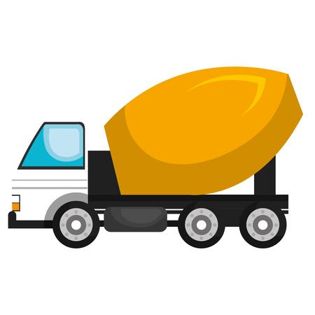 construction vehicle: Construction vehicle machinary isolate flat icon, vector illustration.