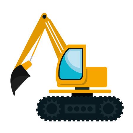 建設車両機械分離フラット アイコン、ベクトル図です。  イラスト・ベクター素材