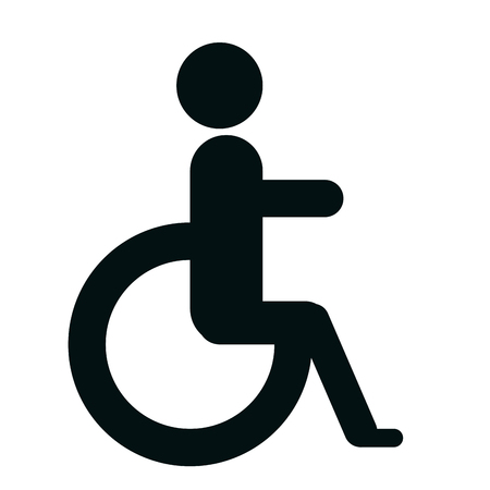 handicap sign: Handicap sign in black and white colors graphic design, vectorillustration.
