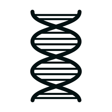 Human DNA isolated flat icon, vector illustration graphic design.