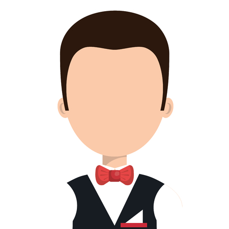 hotel worker: Hotel worker avatar profile, vector illustration graphic design.