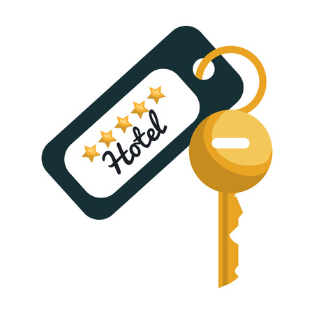 5 door: Hotel object isolated flat icon, vector illustration graphic design. Illustration