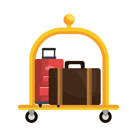 Hotel object isolated flat icon, vector illustration graphic design. Illustration
