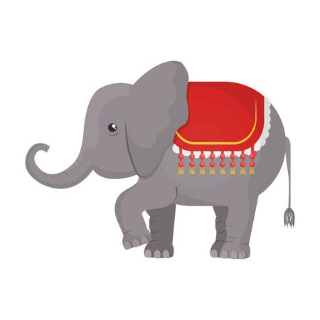 playfull: Circus Elephant cartoon design icon, vector illustration graphic. Illustration