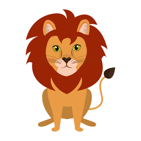 feline: Circus lion feline cartoon design, vector illustration graphic. Illustration
