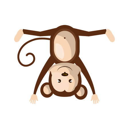 party down: Circus monkey doing pirouettes cartoon design, vector illustration graphic. Illustration