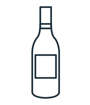 white riesling grape: Delicious and traditional wine bottle isolated flat icon, vector illustration graphic design.