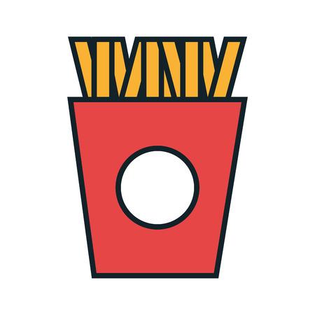 frites: Delicious food icon, gastronomy theme desifn vector illustration graphic.