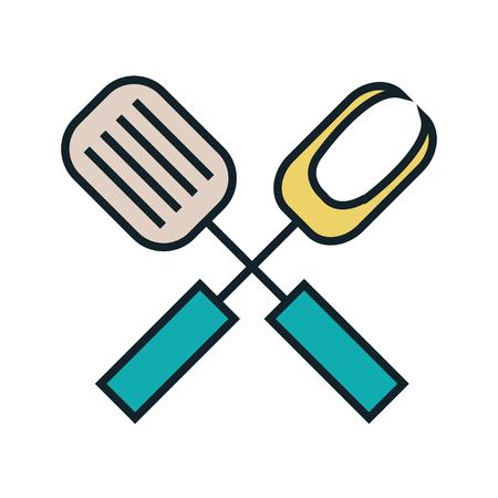 Kitchen dishware and utensil theme design, vector illustration graphic. Illustration