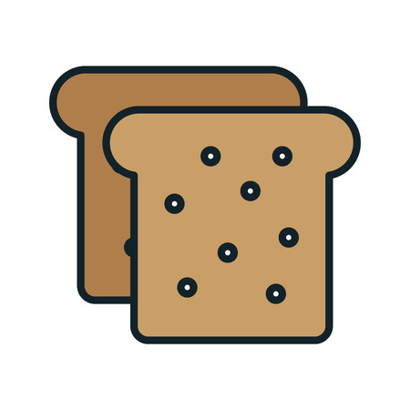 ailment: Delicious and fresh bread, isolated flat icon vector illustration graphic design. Illustration