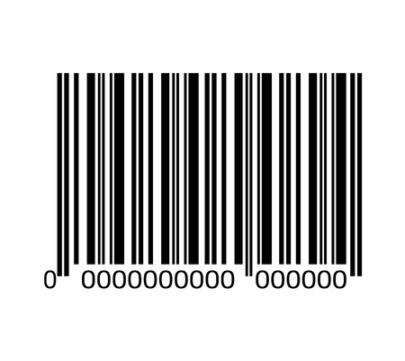 serial: Bar code with serial number black and white icon, vector illustration graphic design. Illustration