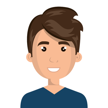 anonymous people: Young male with pompadour cartoon design, vector illustration graphic icon. Illustration