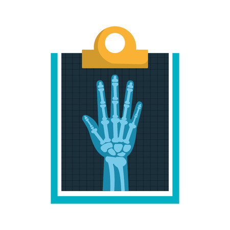 petal: Medical healthcare xray exam isolated flat icon, vector illustration graphic design.