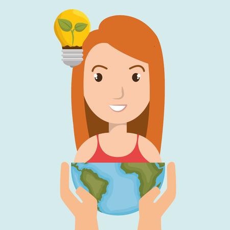lifecycle: las personas con el diseño de iconos aislado planeta, ejemplo gráfico del vector Vectores