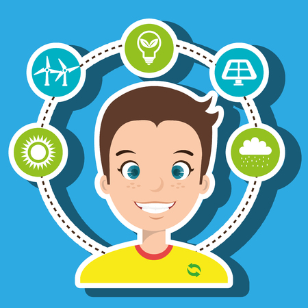 people and environment isolated icon design, vector illustration  graphic Illustration