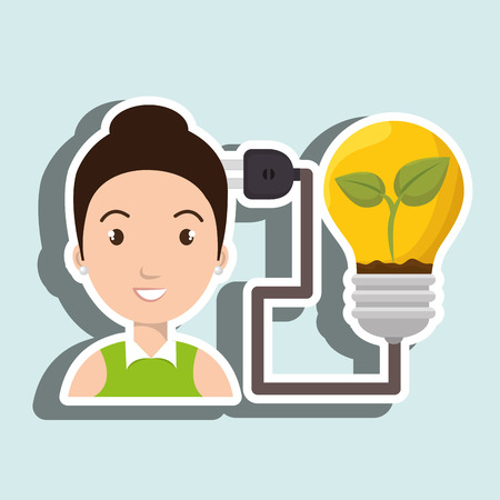 people and electricity isolated icon design, vector illustration  graphic