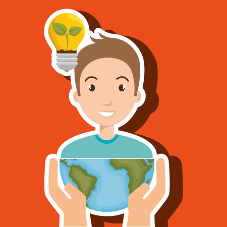lifecycle: persons with planet isolated icon design, vector illustration  graphic