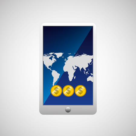 world economy: business world money economy finance isolated, vector illustration Illustration