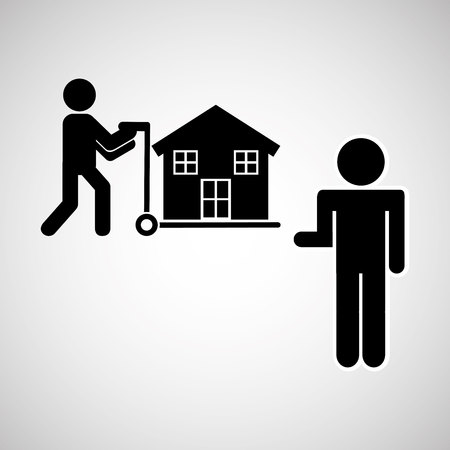 sold isolated: sale house home sold business isolated, vector illustration