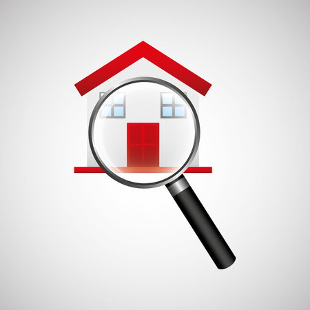 housing search: sale house home sold business isolated, vector illustration
