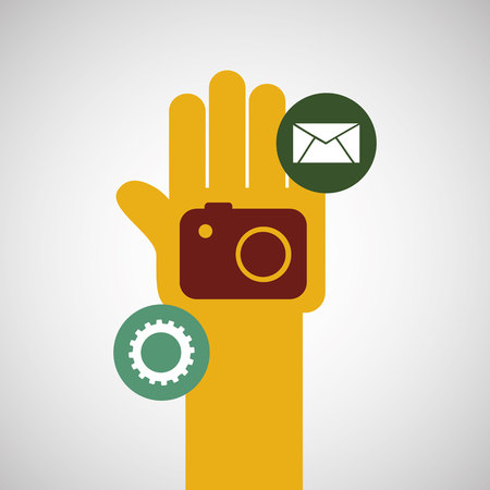 photo of object s: technology app ecommerce isolated, vector illustration eps10