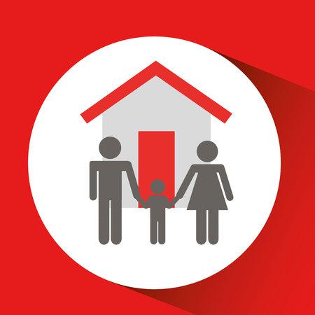 Kaufen Haus verkauft im Geschäft isoliert, Vektor-Illustration Standard-Bild - 60040514