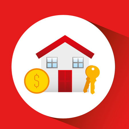 home buyer: sale house home sold business isolated, vector illustration