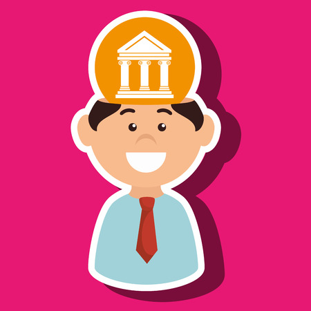 judicature: man justice idea isolated icon design, vector illustration  graphic