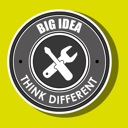 standout: think different isolated icon design, vector illustration  graphic