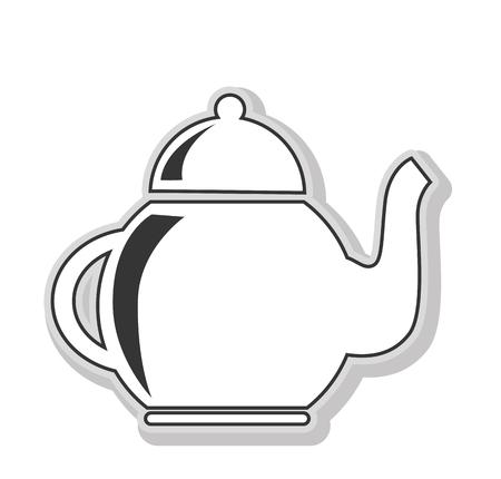 Krug Für Getränke Schwarz Und Weiß Isoliert Flach Symbol, Vektor ...