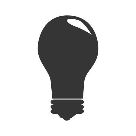 watt: Bulb or big idea icon in black and white , vector illustration graphic design. Illustration