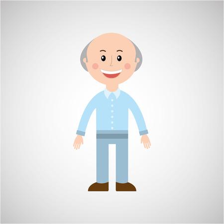 oldman: people icon design over white background, Vector illustration