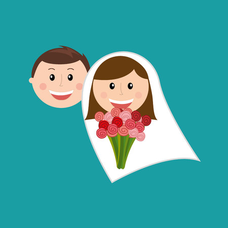 father of the bride: members of the family design, vector illustration eps10 graphic