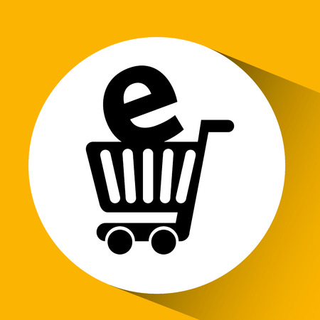 e retailers: electronic commerce design, vector illustration eps10 graphic