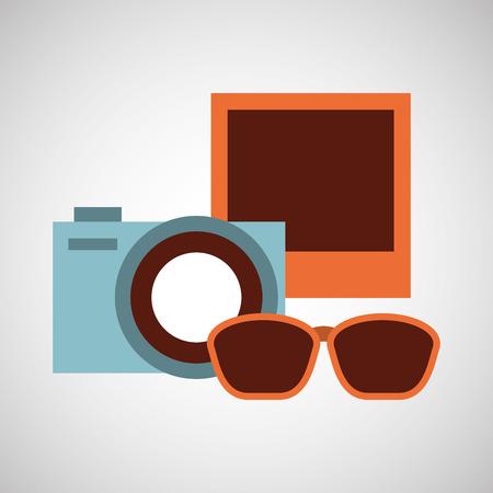 sunglasses isolated: camera photo sunglasses isolated, vector illustration eps10