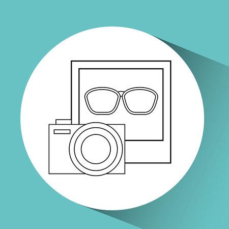 sunglasses isolated: camera photo sunglasses isolated, vector illustration Illustration