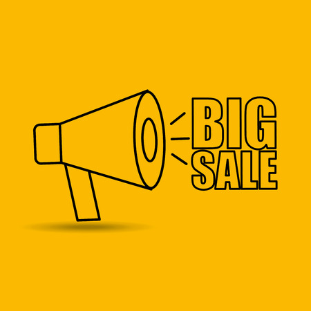 tock illustration: big sale offer discount commerce isolated, vector illustration
