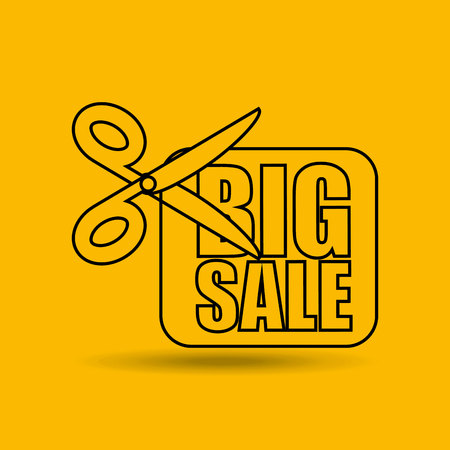 tock illustration: big sale offer discount commerce isolated, vector illustration eps10