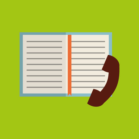 adress book: phone book notebook adress isolated, vector illustration eps10