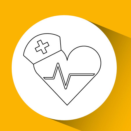 trainee: healthcare medical health isolated, vector illustration eps10