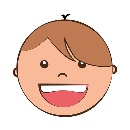 blondie: Little boy smiling cartoon design, isolated flat vector illustration graphic. Illustration