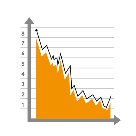probability: Graphic statistics showing probability, isolated flat icon vector illustration.