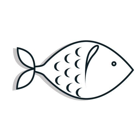 foodstuff: Seafood Foodstuff isolated flat icon in black and white colors, vector illustration.