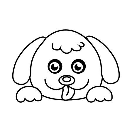 Dog cute pet graphic design, vector illustration isolated icon. Ilustração Vetorial