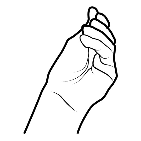 finger signals: Hand simbolizing a gesture, isolated flat icon vector illustration.