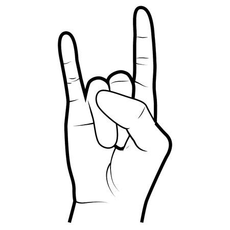 手 simbolizing、ジェスチャー分離フラット アイコン ベクトル図です。