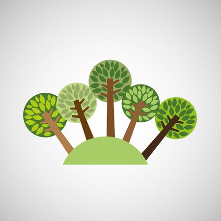 geïsoleerde boom bos natuur, vector illustratie eps10 Vector Illustratie