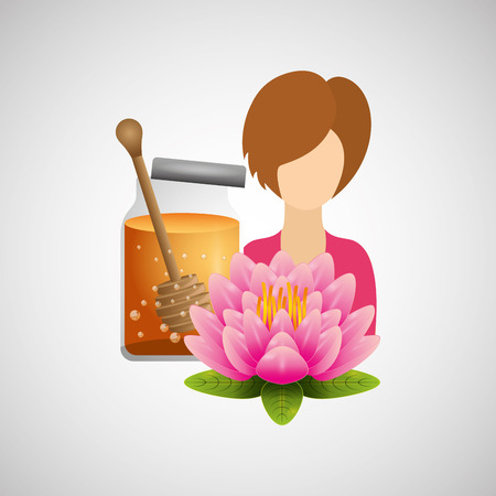 treatment: therapy with spa treatment icon, vector illustration