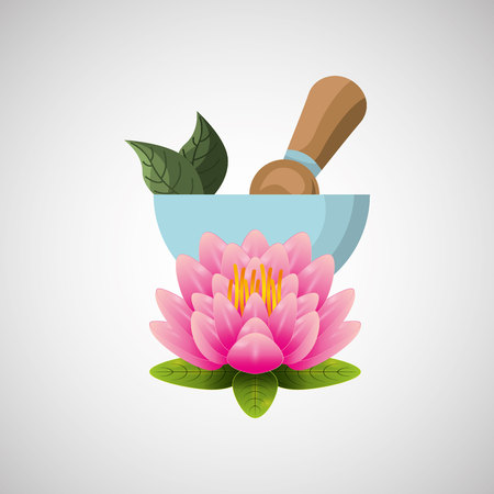 flower bath: therapy with spa treatment icon, vector illustration